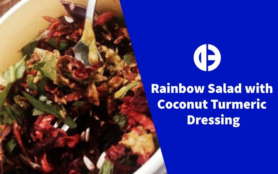 Rainbow Salad with Coconut Turmeric Dressing